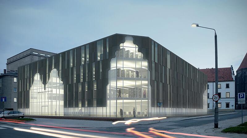 Projekty architektoniczne - Projekt Biblioteki w Nysie