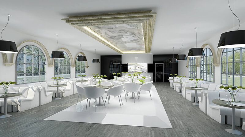 Projekty architektów - Projekt wnętrza restauracji w Berlinie