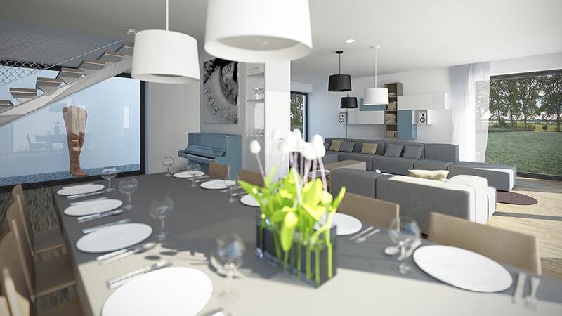 Projekty wnętrz - Projekt wnętrza domu