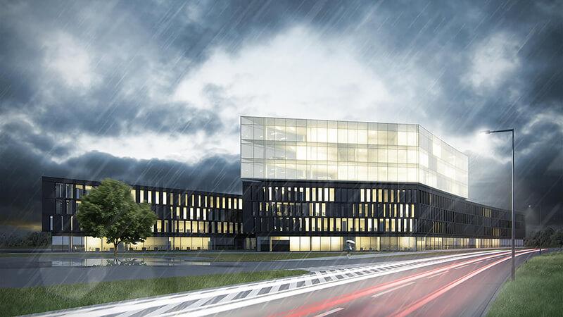 Projekty budynków biurowych - Projekt budynku biurowego Poznań - Rataje