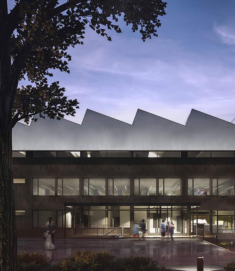 Projekty architektoniczne - Projekt Biblioteki Uniwersytetu Przyrodniczego - Poznań