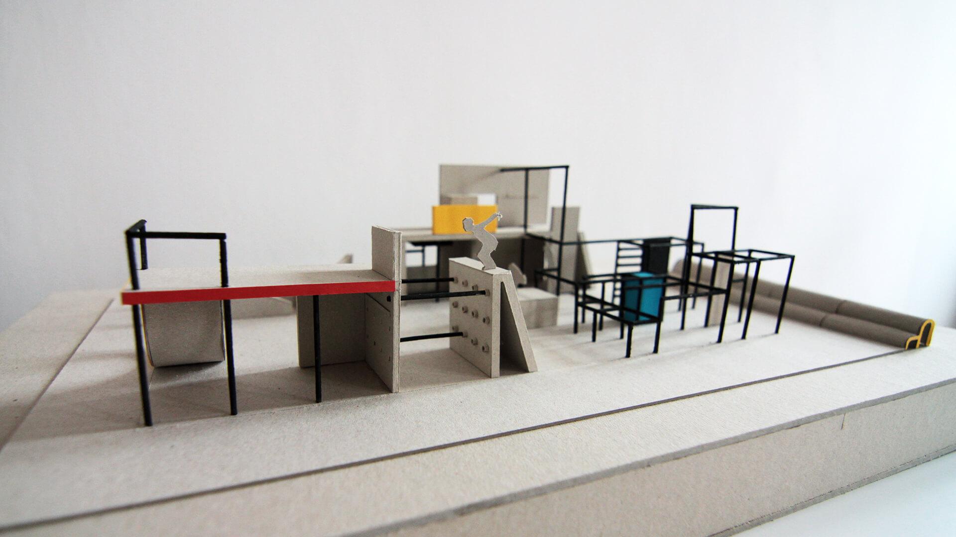 Projekt architektoniczny użyteczności publicznej - Parkour AWF