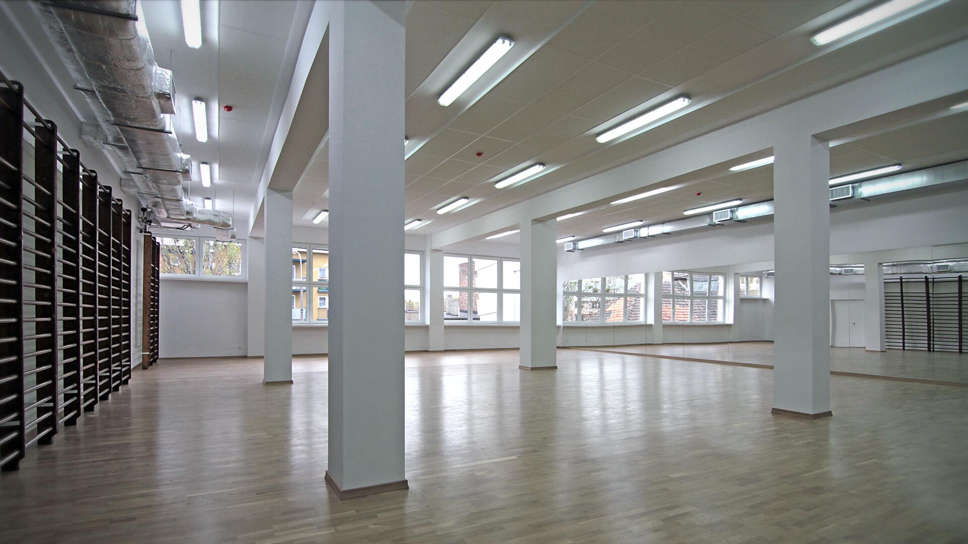 Projekty wnętrz Neostudio Architekci - AWF Gimnastyka