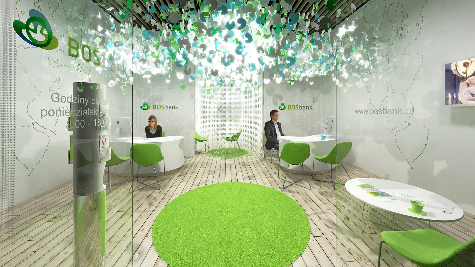 Projekt wnętrz od Neostudio dla Boś Bank