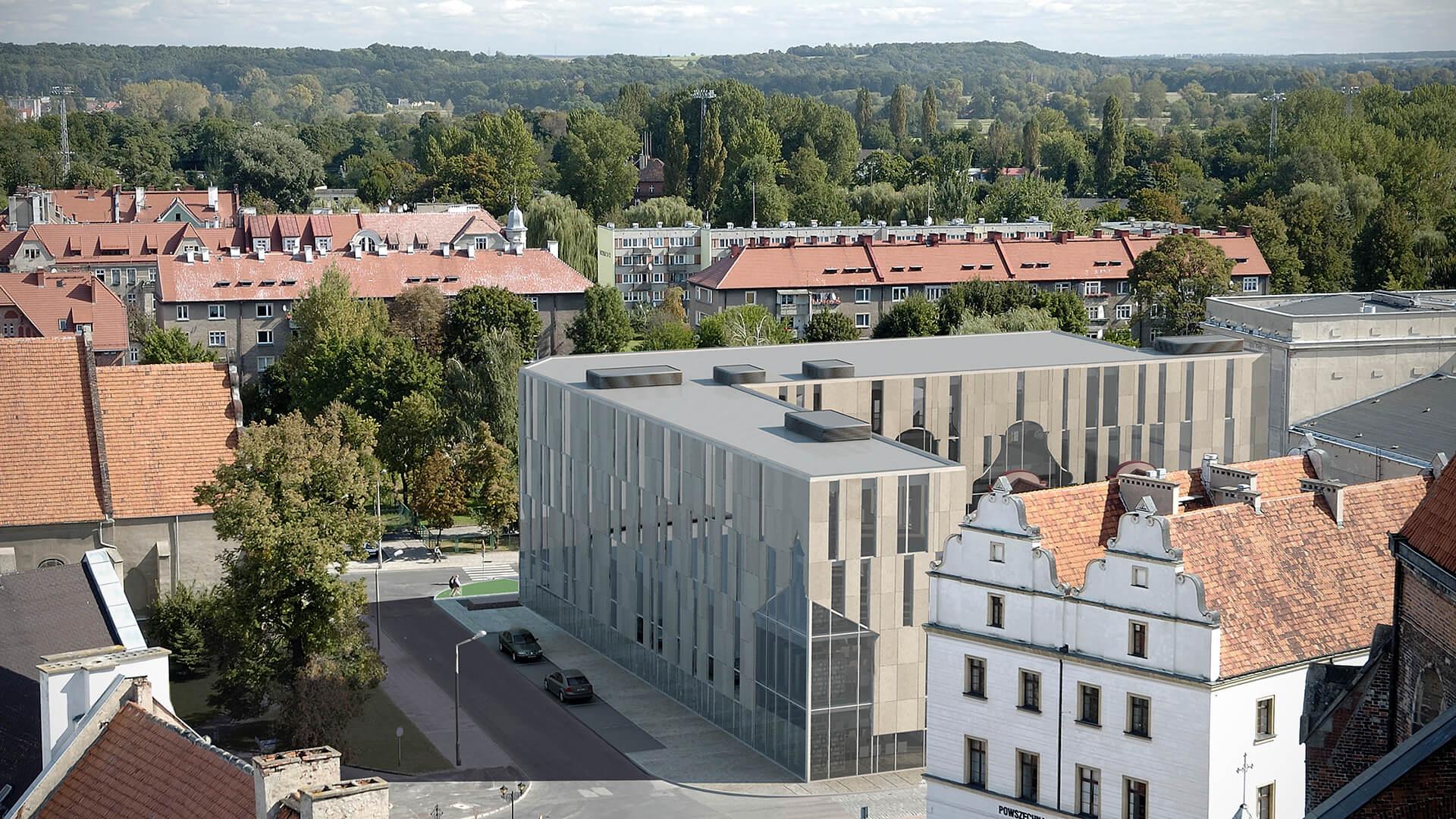 Biblioteka Gminna w Nysie - Projekt biblioteki od Neostudio Architekci