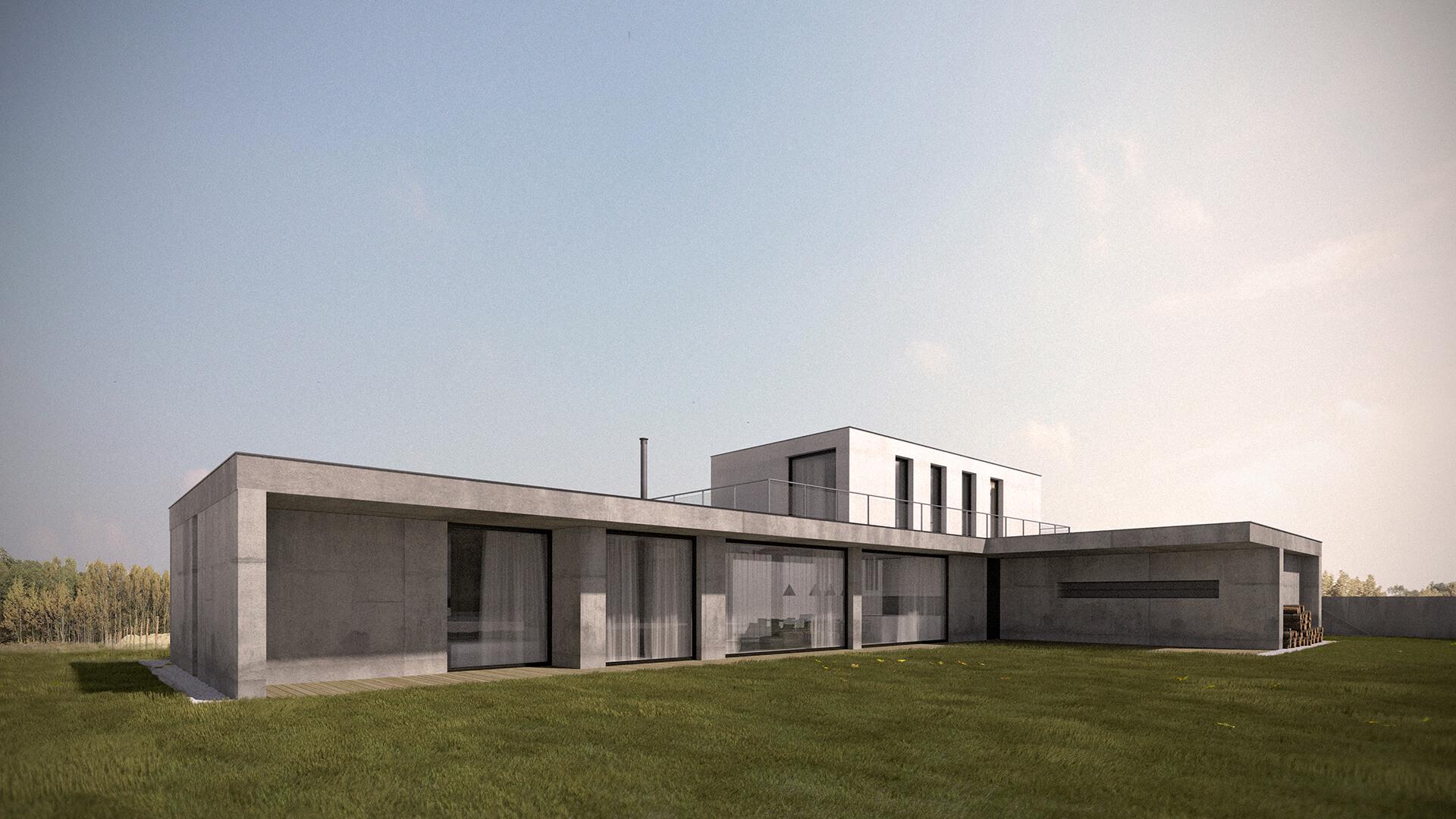 Projekt Dom w Palędziu - Achitekci Poznań- Neostudio