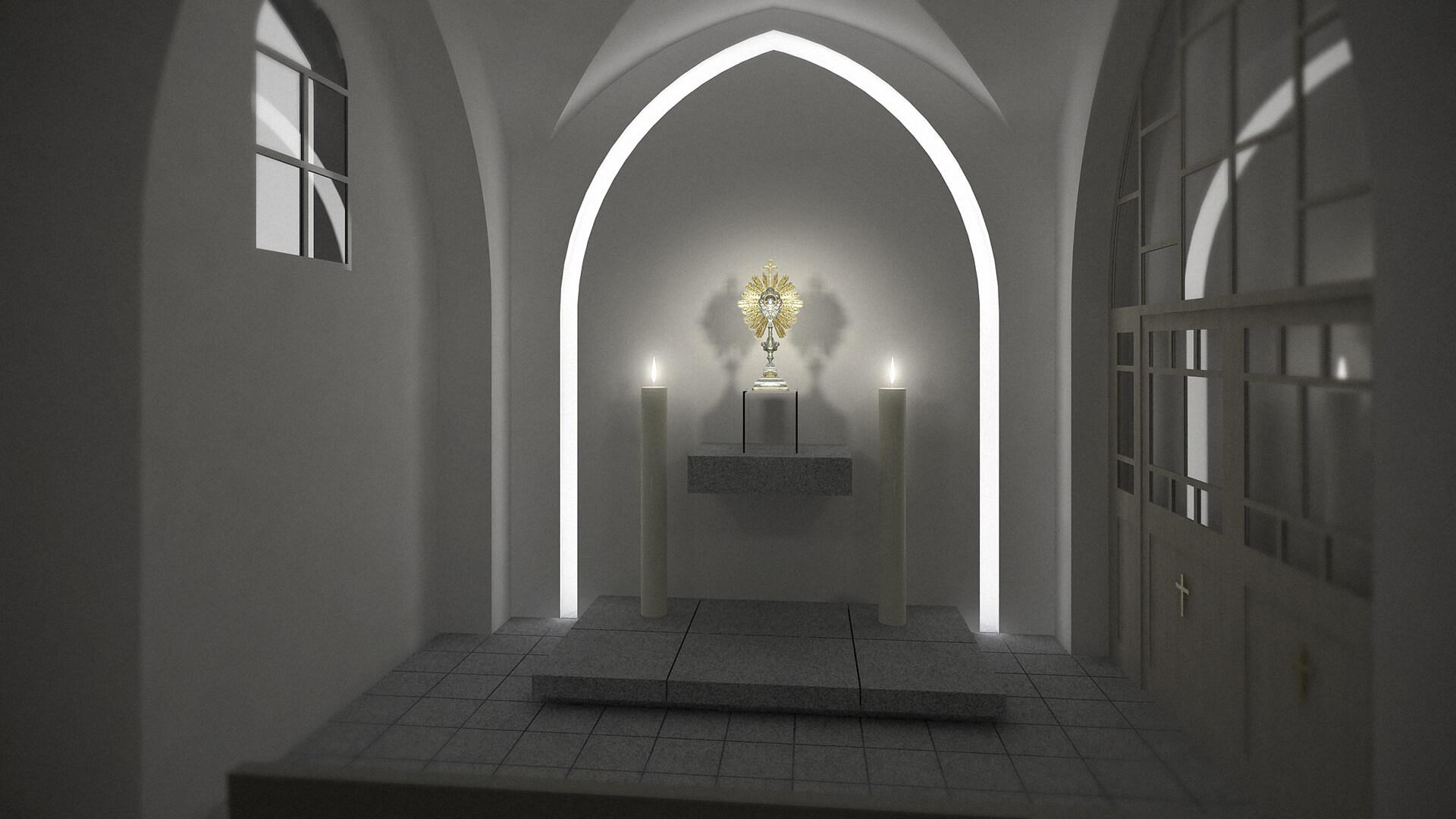 Aranżacja wnętrz - Kaplica Resko