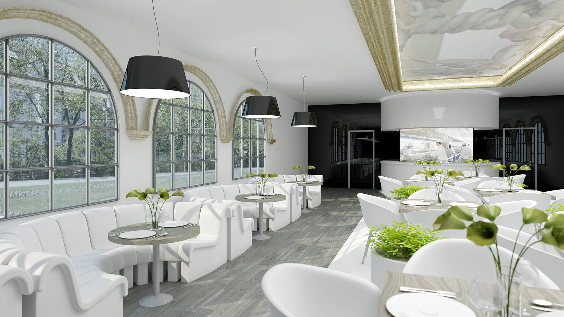 Restauracja Premium w Berlinie - Projekty Neostudio Architekci