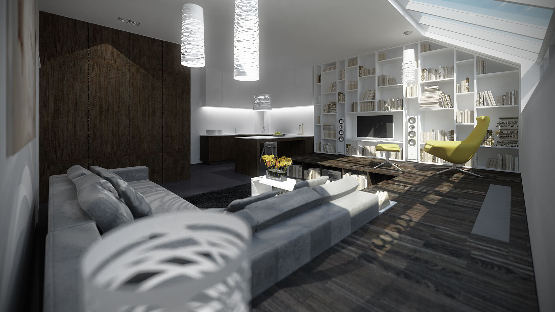 Projekty wnętrz Neostudio Architekci - Apartament Poznań Ułańska